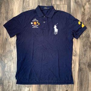 Polo Ralph Lauren Mens large Navy Big Pony Polo
